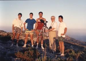 Eloy, Juan Miguel, Juanjo, Joaquín y Jose (Septiembre-1988)